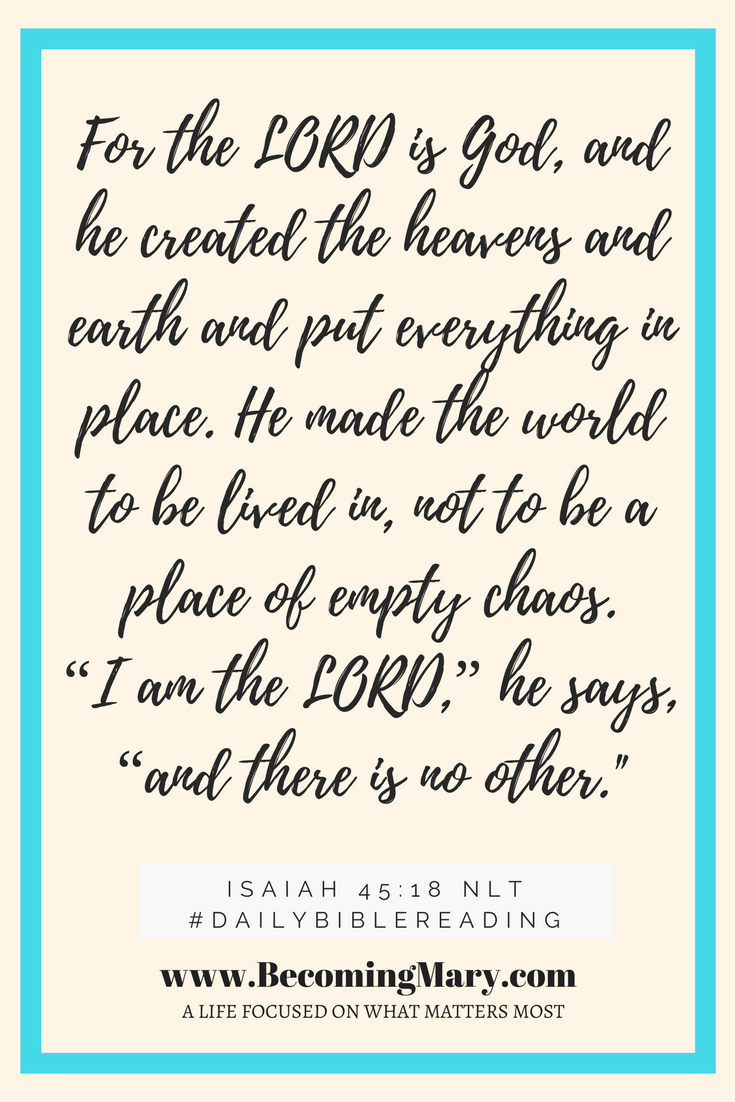 Isaiah 45-18 NLT