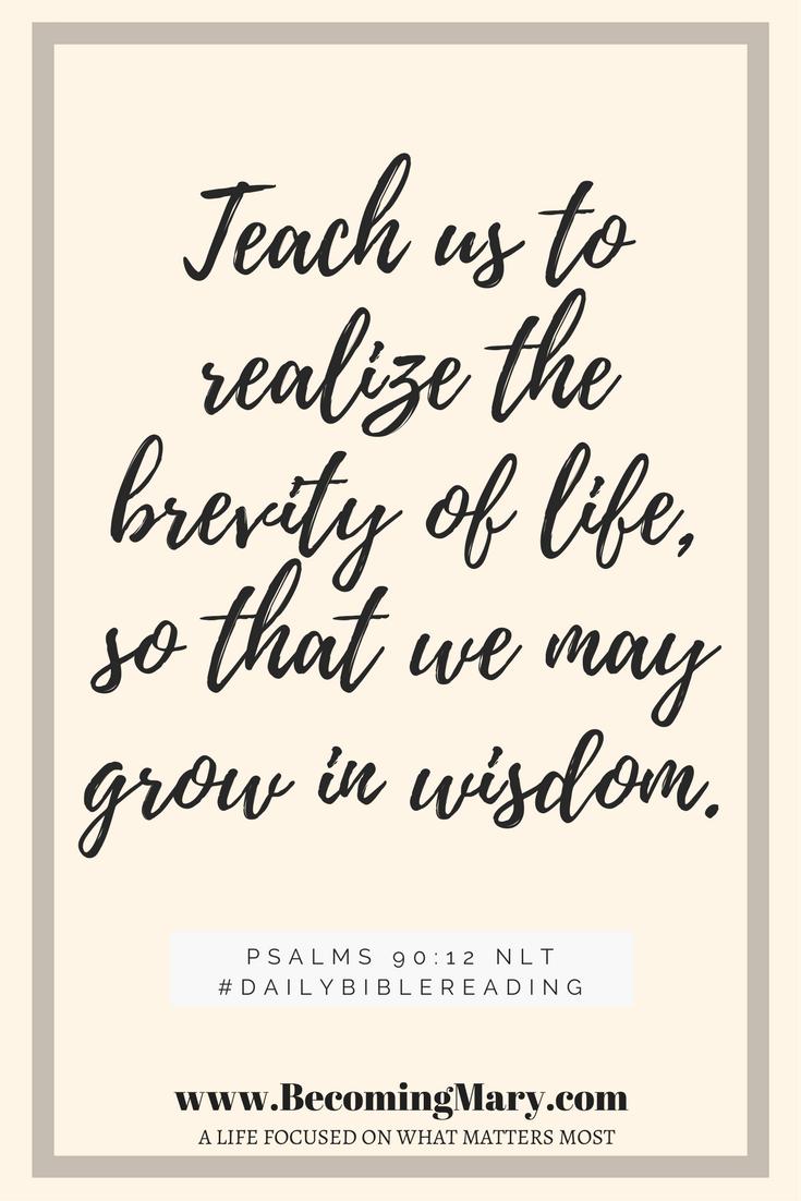Psalms 90-12 NLT