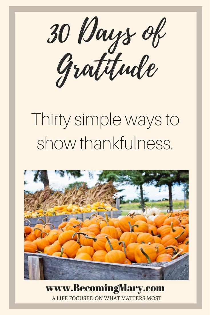 30 Days ofGratitude