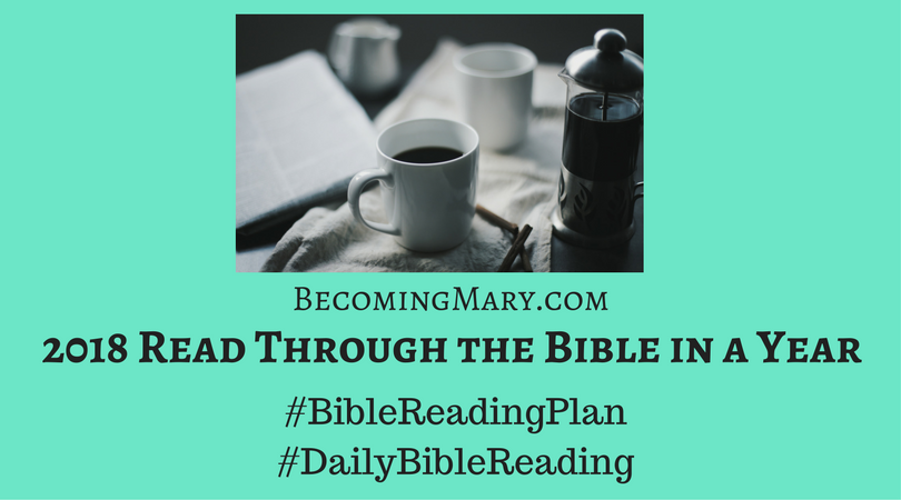 2018 Bible Reading Plan